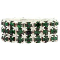 Diamante Stretchy Rings, 3 row